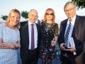 Heike Hausweiler vom JNF-KKL Green Business Circle (links), Dr. Masad Barhoum & Dr. Marie Barhoum aus Israel (Mitte), Abraham Lehrer, Vize-Präsident des Zentralrates der Juden in Deutschland (rechts)