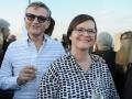 Gäste des JNF-KKL Business Dinners zum Thema Gesundheitswirtschaft: Das Ehepaar Willvonseder aus Kopenhagen