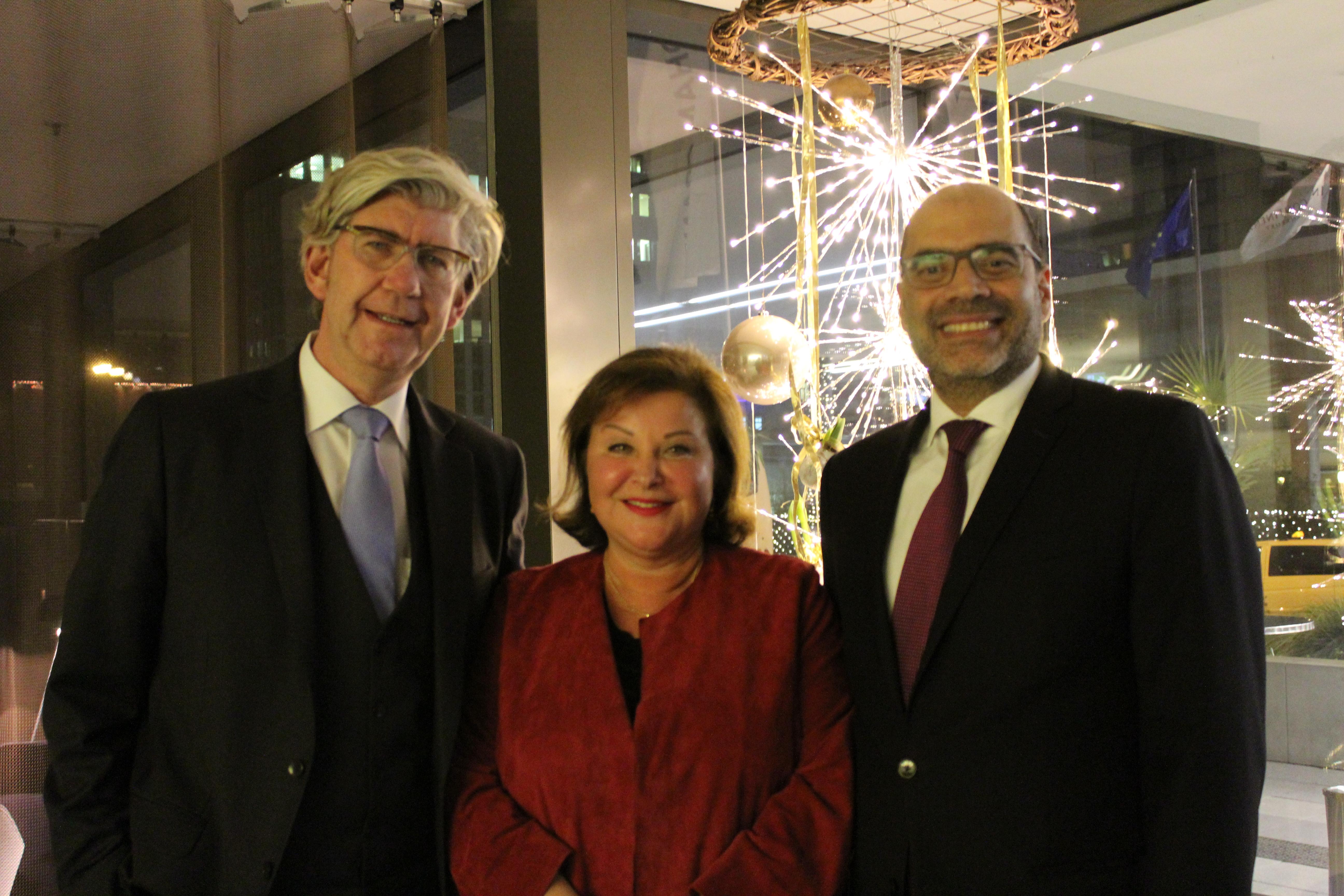 JNF-KKL Green Business Circle - Prof. Dr. Torsten Oltmanns, Sarah Singer und Dr. Dan Shaham, Generalkonsul des Staates Israel