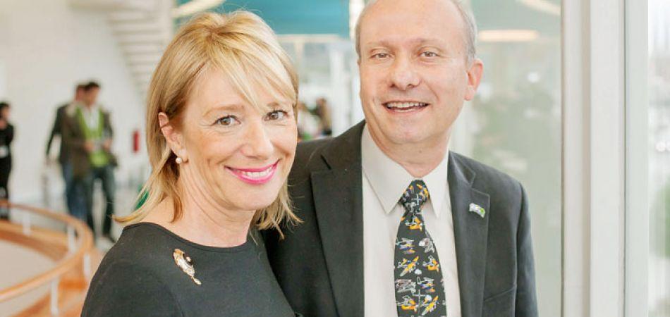 """JBC, JNF Business Circle, Schaul Chorev und Heike Hausweiler, die """"Green door opener"""" des Jüdischen Nationalfonds e.V."""